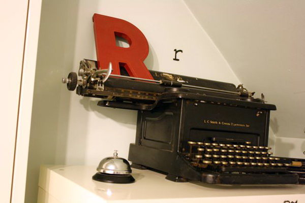 typewriter | the both and | shorts and longs | julie rybarczyk