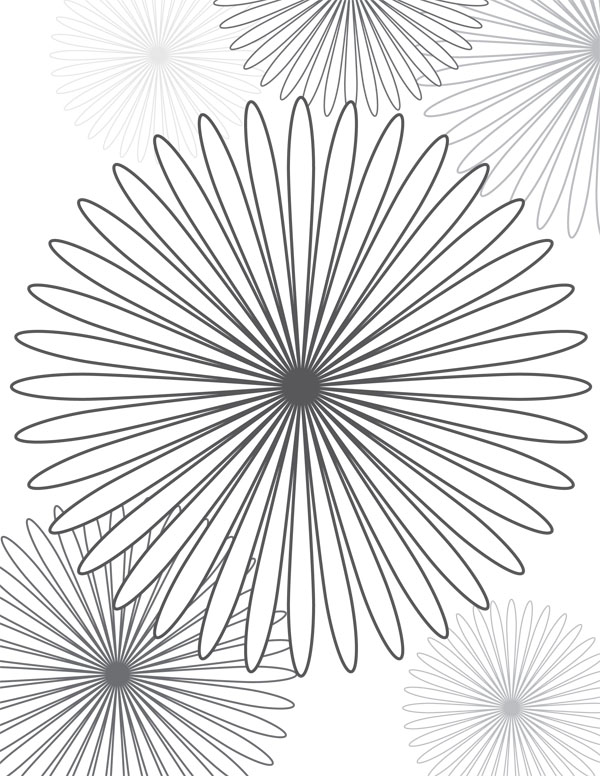 spirals colouring pages