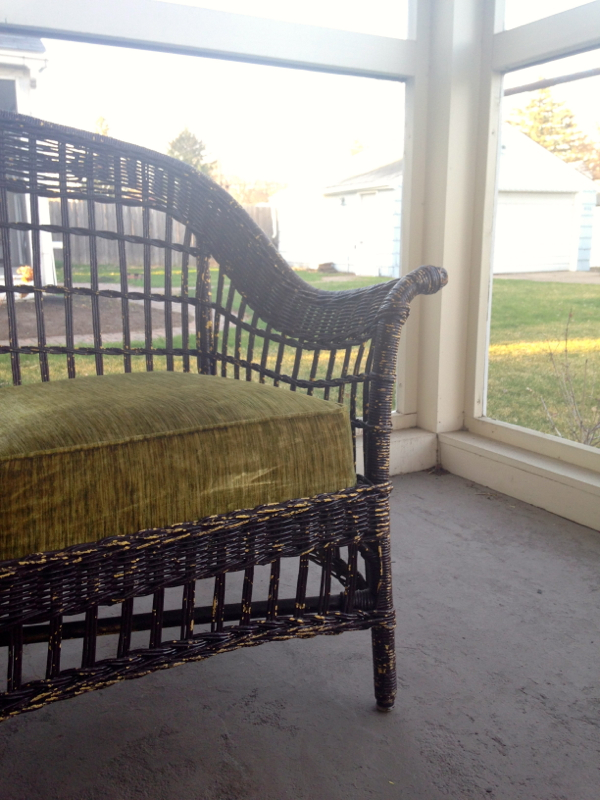 screen porch wicker couch - shorts and longs - julie rybarczyk2