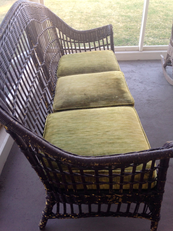 screen porch wicker couch - shorts and longs - julie rybarczyk5