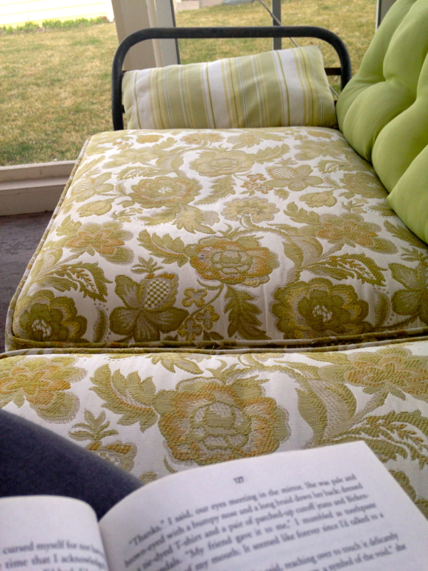 screen porch wicker couch - shorts and longs - julie rybarczyk6